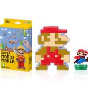 Super Mario Maker + Mario Modern Colours amiibo + 8-Bit Mario Soft Toy