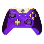 Xbox One Wireless Custom Controller - Chrome Purple & Gold