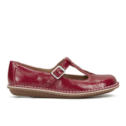 Clarks Women's Tustin Talent Leather Mary Jane Flats - Red
