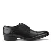 Clarks Men's Banfield Cap Leather Derby Shoes - Black