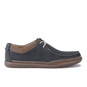 Clarks Men's Trapell Pace Leather Lace-Up Shoes - Navy