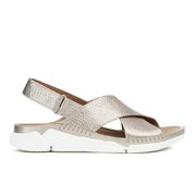 Clarks Women's Tri Alexia Cross Front Leather Sandals - Gold