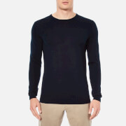Selected Homme Men's Tower Merino Crew Neck Knitted Jumper - Navy Blazer