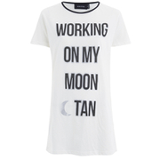 MINKPINK Women's Moon Dance T-Shirt Dress - White/Black