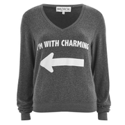 Wildfox Women's I'm with Charming Sweatshirt - Dirty Black