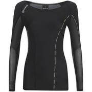 Skins DNAmic Women's Long Sleeve Top - Black/Limoncello