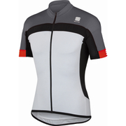 Sportful Pista Short Sleeve Jersey - White/Black/Grey