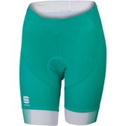 Sportful Gruppetto Women's Shorts - Green/White/Yellow