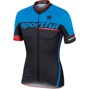 Sportful SC Team Short Sleeve Jersey - Black/Blue