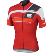 Sportful Gruppetto Pro Team Short Sleeve Jersey - Red/Grey