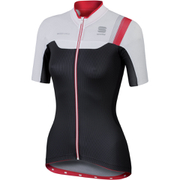 Sportful BodyFit Women's Short Sleeve Jersey - Black/White/Pink