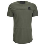 4Bidden Men's Longline Aim T-Shirt - Khaki