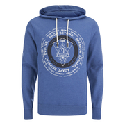 Smith & Jones Men's Pseudo Print Hoody - Moonlight Blue Marl