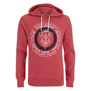 Smith & Jones Men's Pseudo Print Hoody - True Red Marl
