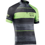Northwave Stripes Short Sleeve Jersey - Black/Green Fluo