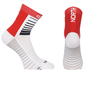Northwave Sonic 12cm Cuff Socks - White/Red