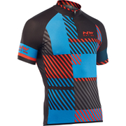 Northwave Explorer Short Sleeve Jersey - Blue/Red