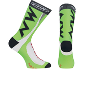Northwave Extreme Tech Plus Socks - Black/Green Fluo
