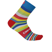 Castelli Striscia 13 Socks - Blue/Multicolour