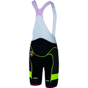 Castelli Free Aero Race Kit Bib Shorts - Black/Yellow