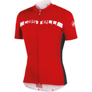 Castelli Prologo 4 Short Sleeve Jersey - Red/Black