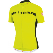 Castelli Prologo 4 Short Sleeve Jersey - Yellow/Black