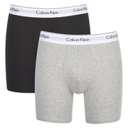 Calvin Klein Men's 2 Pack Boxer Briefs - Black/Grey Heather