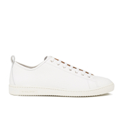 Paul Smith Shoes Men's Miyata Leather Trainers - White Seta Calf