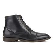 H Shoes by Hudson Men's Seymour Leather Toe Cap Lace Up Boots - Black