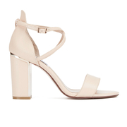 Dune Women's Maybell Leather Block Heeled Sandals - Nude