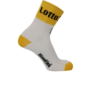 Santini Lotto Jumbo 16 Coolmax Socks - Black/Yellow