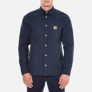 Carhartt Men's Long Sleeve Tony Shirt - Navy Rigid