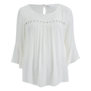ONLY Women's Theo Lace Top - Cloud Dancer