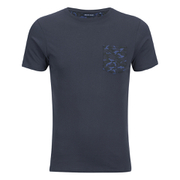 Brave Soul Men's Pulp Camo Pocket T-Shirt - Navy