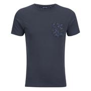 Brave Soul Men's Pulp Camo Pocket T-Shirt - Navy
