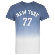Threadbare Men's Dunbar Print Dip Dye T-Shirt - Blue
