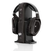 Sennheiser RS 185 Surround Sound Wireless Headphones with Multi-Purpose Transmitter - Black