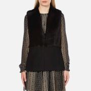 MICHAEL MICHAEL KORS Women's Fitted Faux Fur Vest - Black
