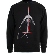 Star Wars Mens Kylo Ren Lightsabre Sweatshirt - Zwart