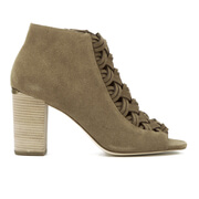 MICHAEL MICHAEL KORS Women's Westley Suede Heeled Ankle Boots - Desert
