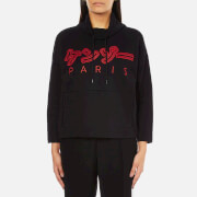 KENZO Women's Japanese Logo Wide Sleeve Sweatshirt - Black