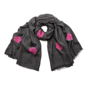 KENZO Women's High End Icons Tiger Heads Fil Coupe Scarf - Grey