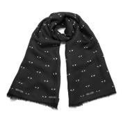 KENZO Women's Iconics Eyes Scarf - Black
