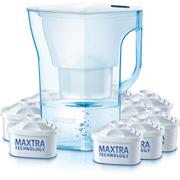 BRITA Navelia Water Filter Jug with 9 Cartridges - Cool White - 2.3L