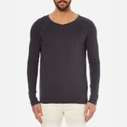 Nudie Jeans Men's Otto Raw Hem Long Sleeve Top - Navy