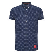 Superdry Men's Northbank Short Sleeve Shirt - Summit Navy