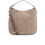 MICHAEL MICHAEL KORS Heidi Suede Shoulder Bag - Grey