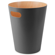 Umbra Woodrow Waste Can - Charcoal