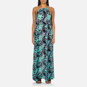 Superdry Women's Eivissa Split Maxi Dress - Electric Storm