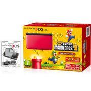 Nintendo 3DS XL Red/Black + New Super Mario Bros. 2